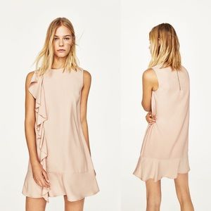 Zara pink ruffle dress